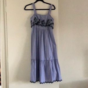Kate Spade size XS blue midi dress